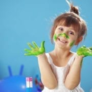 Painting kid girl